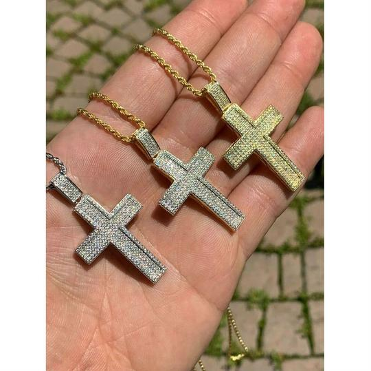 Harlembling Harlembling 925 Silver Cross Pendant Bust Down Crucifix Necklace Image 5