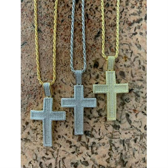 Harlembling Harlembling 925 Silver Cross Pendant Bust Down Crucifix Necklace Image 6