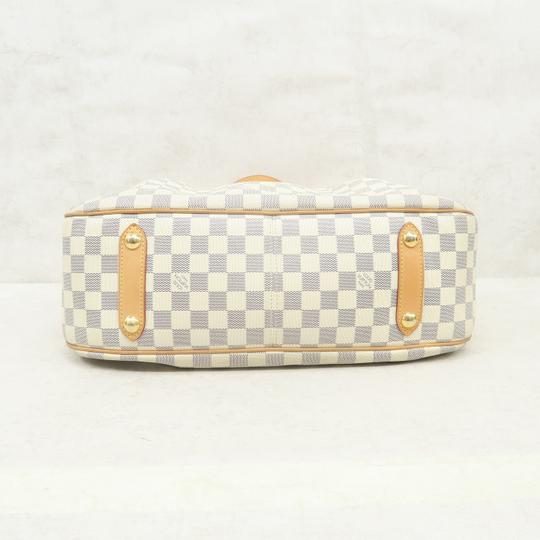 Louis Vuitton Lv Siracusa Azur Canvas Gm Satchel in White Image 4
