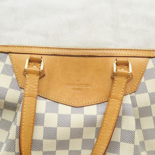 Louis Vuitton Lv Siracusa Azur Canvas Gm Satchel in White Image 8