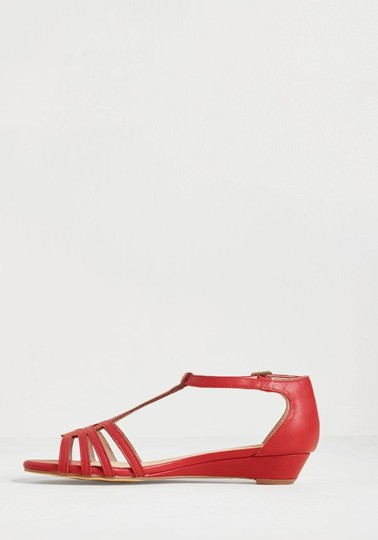 Chelsea Crew Red Wedges Image 3