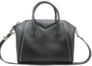 Givenchy Antigona Calfskin Leather Small Satchel in Black