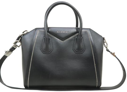 Givenchy Antigona Calfskin Leather Small Satchel in Black Image 0