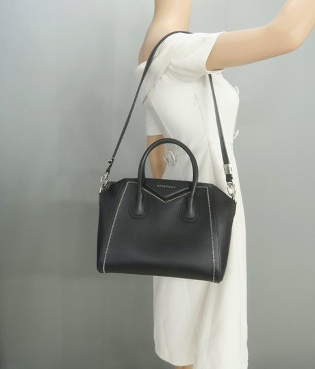 Givenchy Antigona Calfskin Leather Small Satchel in Black Image 11