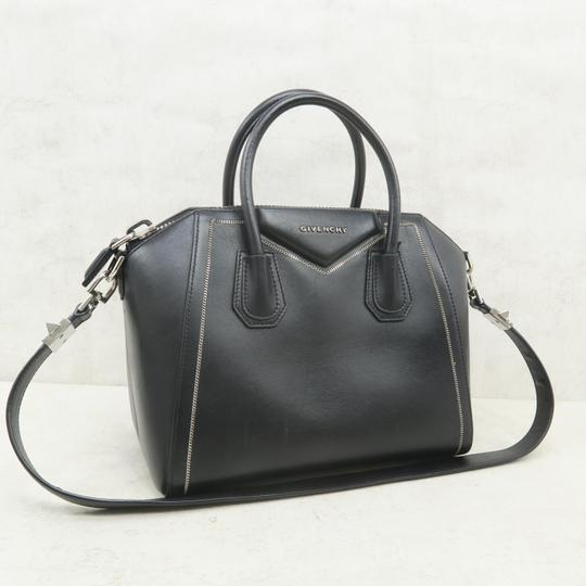 Givenchy Antigona Calfskin Leather Small Satchel in Black Image 2