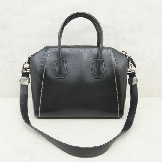 Givenchy Antigona Calfskin Leather Small Satchel in Black Image 3