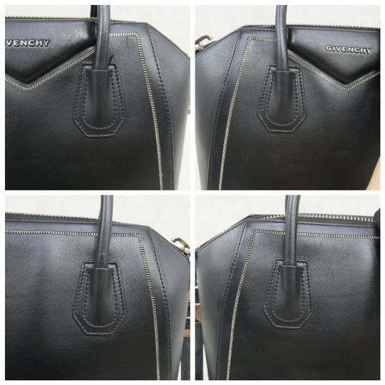 Givenchy Antigona Calfskin Leather Small Satchel in Black Image 8
