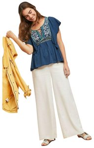 Anthropologie By Ranna Gill Top Blue