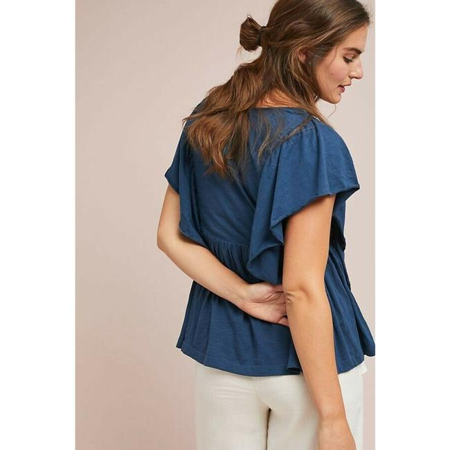Anthropologie By Ranna Gill Top Blue Image 1