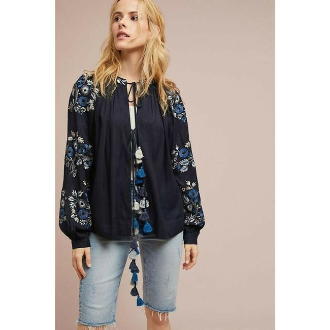 Anthropologie Jacket By Ranna Gill Top Blue Image 1