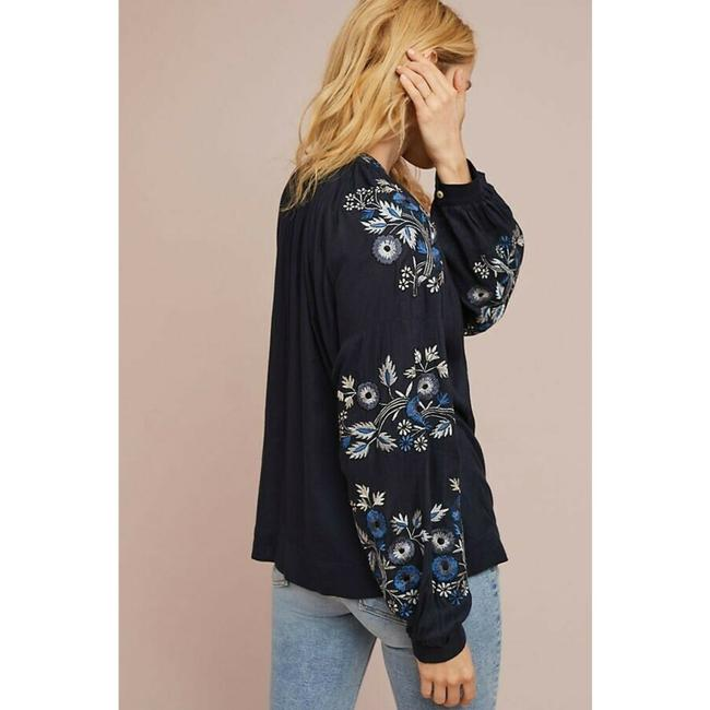 Anthropologie Jacket By Ranna Gill Top Blue Image 2