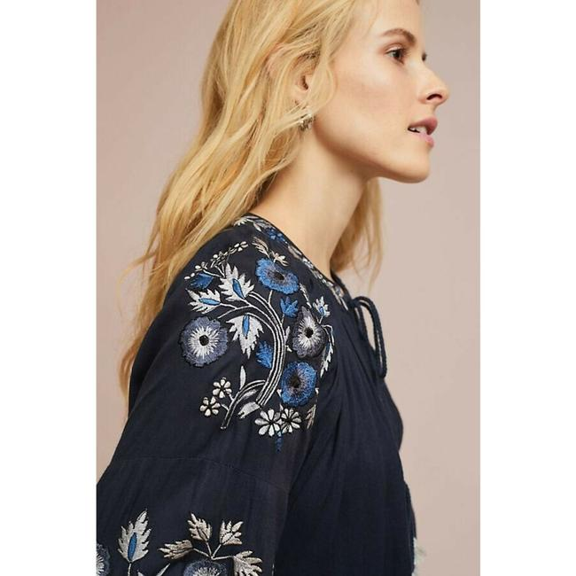 Anthropologie Jacket By Ranna Gill Top Blue Image 3