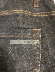 Prada Boot Cut Jeans-Dark Rinse