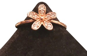 PANDORA Authentic Pandora Ring Rose Gold with Clear CZ Dazzling Daisy Flower #54
