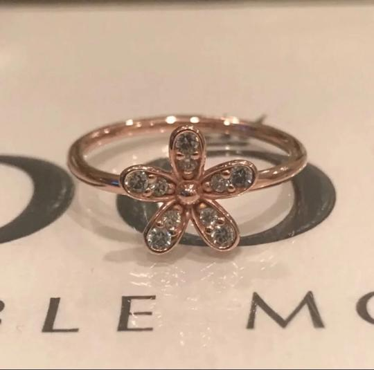 PANDORA Authentic Pandora Ring Rose Gold with Clear CZ Dazzling Daisy Flower #54 Image 2