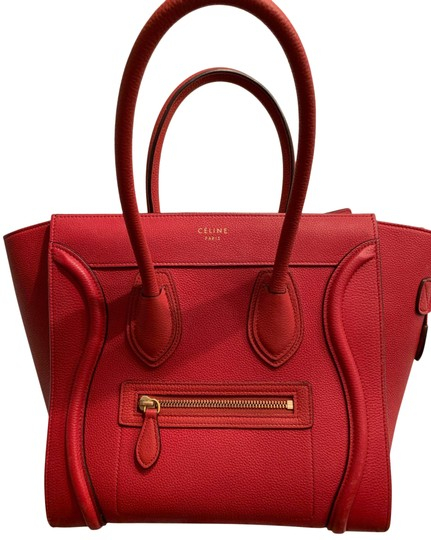 Preload https://img-static.tradesy.com/item/26023301/celine-luggage-mini-red-grained-leather-tote-0-1-540-540.jpg