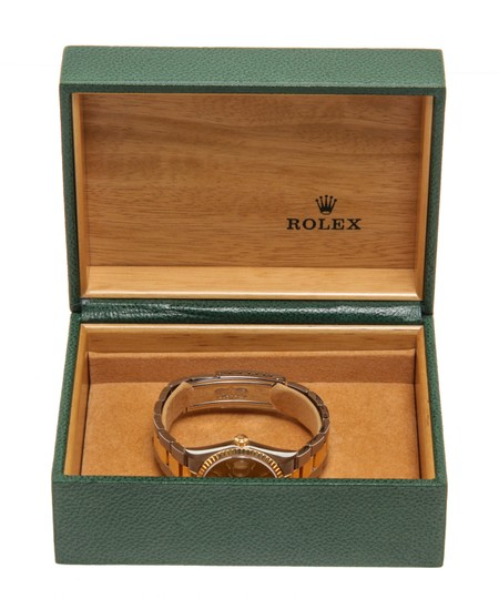 Rolex Rolex 2 Tone Stainless Steel Yellow Gold Date Watch Image 6