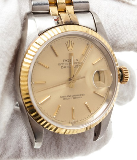 Rolex Rolex 2 Tone Stainless Steel Yellow Gold Datejust Watch Ref 16233 Image 1