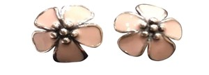 PANDORA Authentic Pandora Cherry Blossom Pale Pink Enamel Clips Charms Set