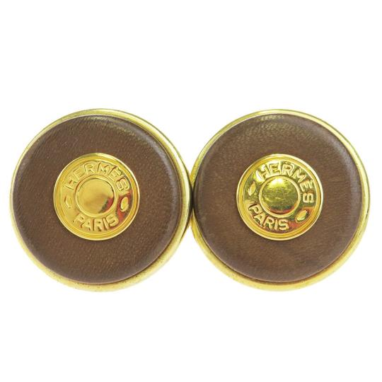 Preload https://img-static.tradesy.com/item/26023325/hermes-gold-sellier-button-button-style-leather-clip-on-earrings-0-0-540-540.jpg