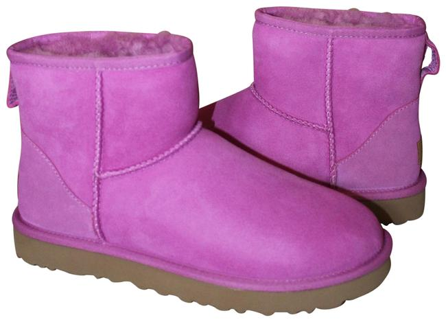 UGG Australia Pink Mini Water Resistant Suede Shearling Boots/Booties Size US 9 Regular (M, B) UGG Australia Pink Mini Water Resistant Suede Shearling Boots/Booties Size US 9 Regular (M, B) Image 1