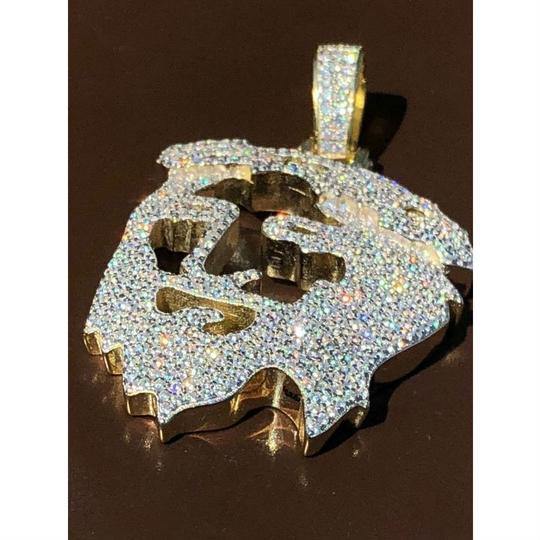 Harlembling Harlembling Solid 925 Silver Ghost Cut Out Jesus Piece Image 2