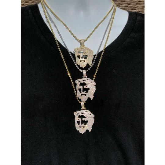Harlembling Harlembling Solid 925 Silver Ghost Cut Out Jesus Piece Image 4