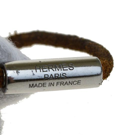 Hermès HERMES Sellier Wrap Bracelet Bangle Leather Silver Plated Accessory Image 2
