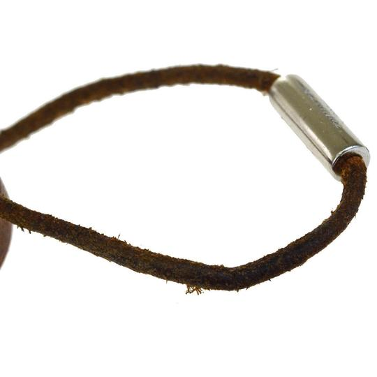 Hermès HERMES Sellier Wrap Bracelet Bangle Leather Silver Plated Accessory Image 5
