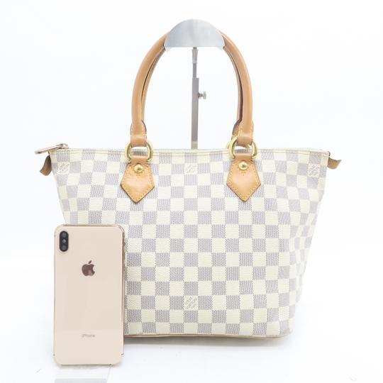 Louis Vuitton Lv Saleya Pm Canvas Tote in White Image 1