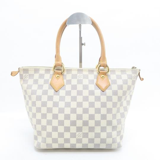 Louis Vuitton Lv Saleya Pm Canvas Tote in White Image 2