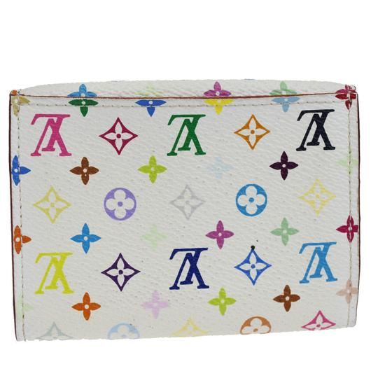 Louis Vuitton LOUIS VUITTON Bifold Pass Card Case Monogram Multi White Image 2