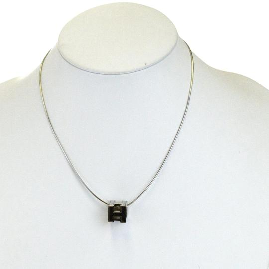 Preload https://img-static.tradesy.com/item/26023459/hermes-silver-logos-h-cube-plated-vintage-necklace-0-1-540-540.jpg