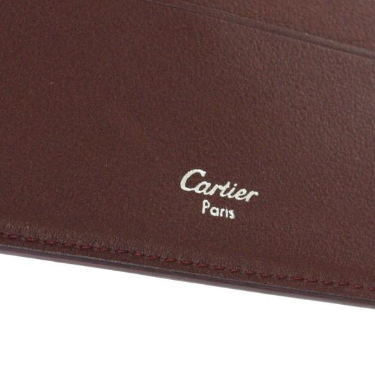 Cartier Authentic MUST DE CARTIER 2C Logos Bifold Wallet Purse Leather Image 10