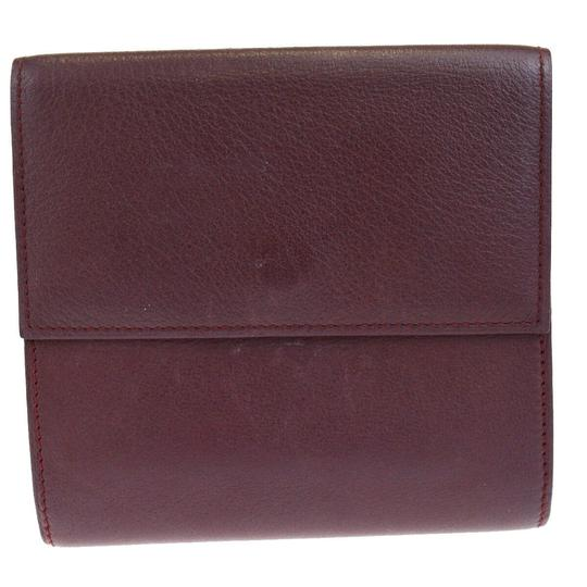 Cartier Authentic MUST DE CARTIER 2C Logos Bifold Wallet Purse Leather Image 5