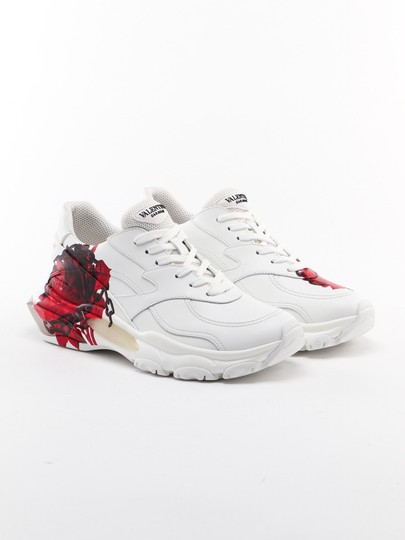 Valentino White red Athletic Image 2