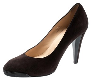 Tod's Suede Leather Brown Pumps
