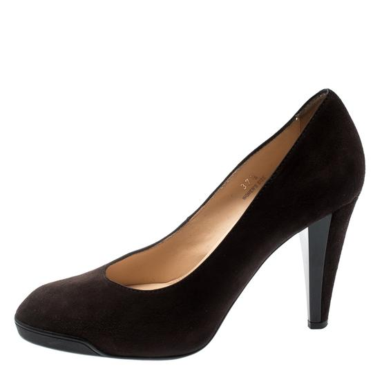 Tod's Suede Leather Brown Pumps Image 1