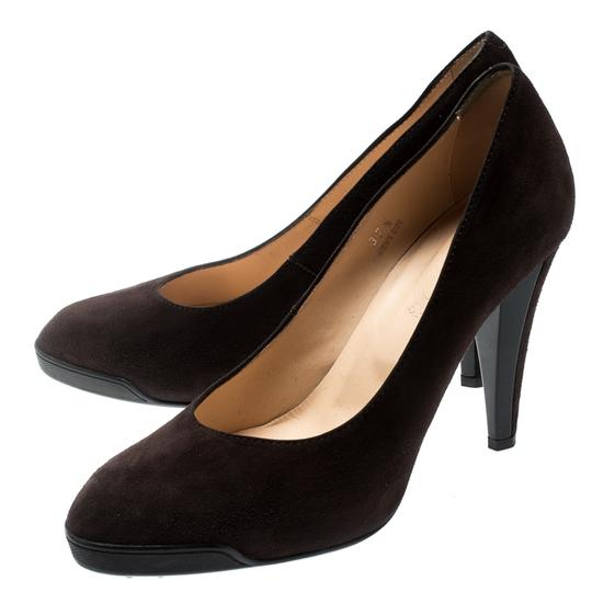 Tod's Suede Leather Brown Pumps Image 5