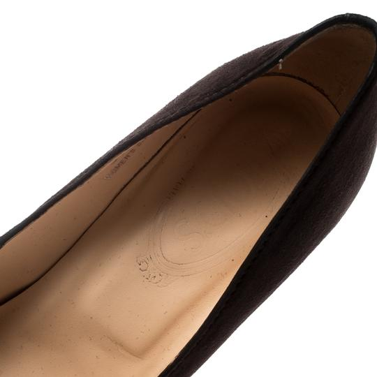 Tod's Suede Leather Brown Pumps Image 6