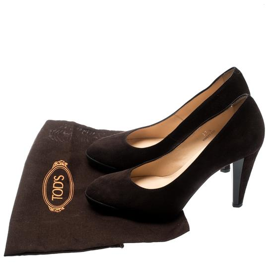 Tod's Suede Leather Brown Pumps Image 7