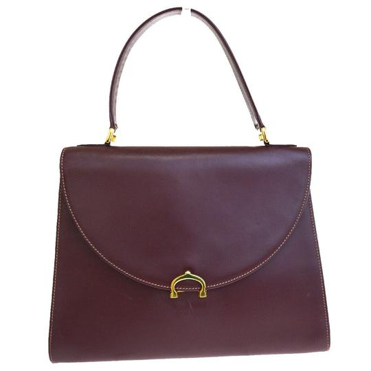 Preload https://img-static.tradesy.com/item/26023582/cartier-logos-hand-gold-bordeaux-leather-clutch-0-0-540-540.jpg