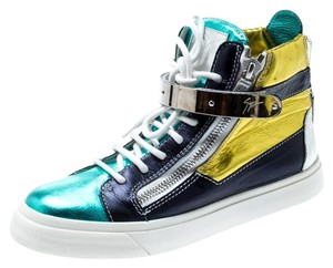 Giuseppe Zanotti Metallic Leather Multicolor Athletic