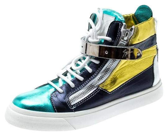 Giuseppe Zanotti Metallic Leather Multicolor Athletic Image 0