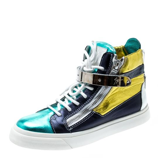 Giuseppe Zanotti Metallic Leather Multicolor Athletic Image 1