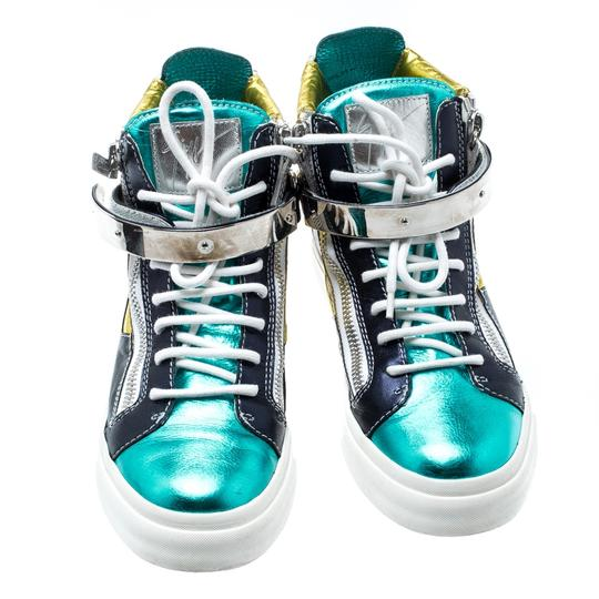 Giuseppe Zanotti Metallic Leather Multicolor Athletic Image 2