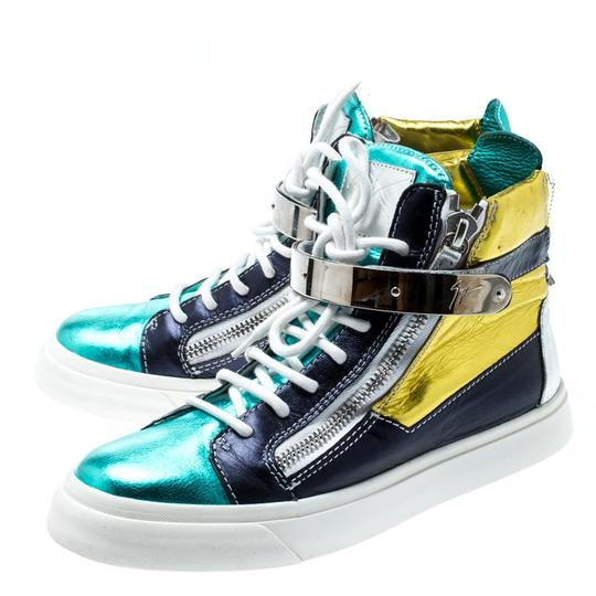 Giuseppe Zanotti Metallic Leather Multicolor Athletic Image 4