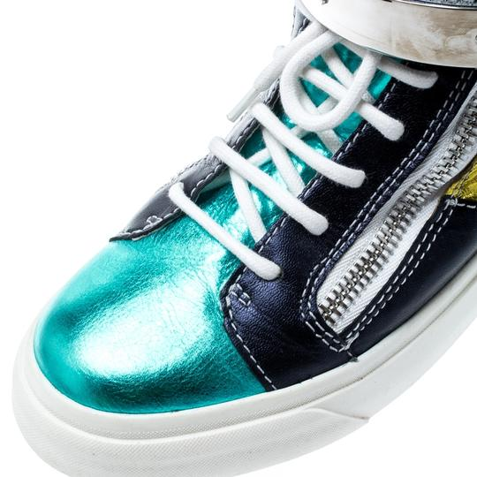 Giuseppe Zanotti Metallic Leather Multicolor Athletic Image 6
