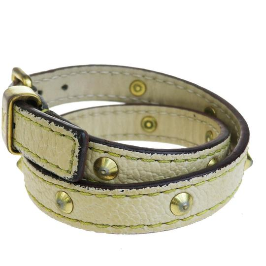 Louis Vuitton Lvory Studded Leather France Bracelet Image 1