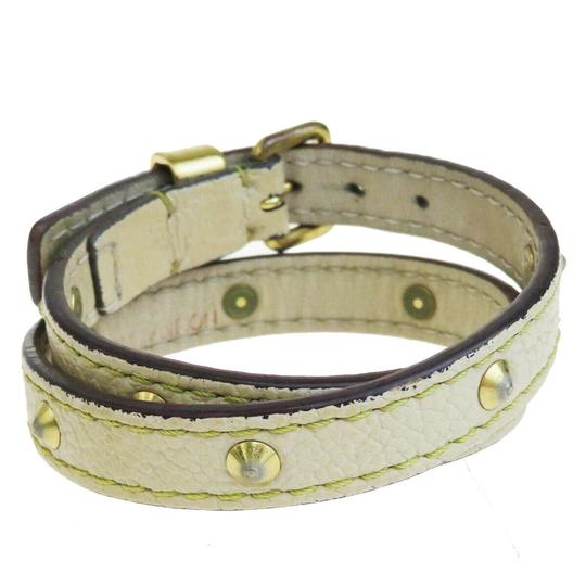 Louis Vuitton Lvory Studded Leather France Bracelet Image 2